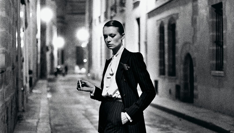 Yves Saint Laurent, French Vogue, Rue Aubriot, Paris 1975 © Helmut Newton Estate / Maconochie Photography