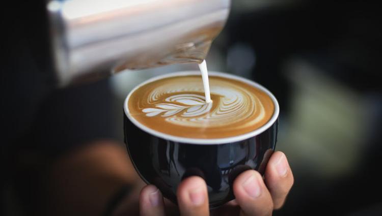 Barista made coffee in a designer workplace
