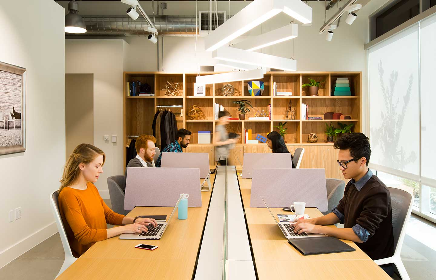 Coworking space in Silicon Valley, where Spaces members work in concentration.