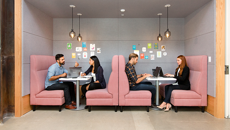 booth-with-people-for-a-speed-hiring-event-spaces