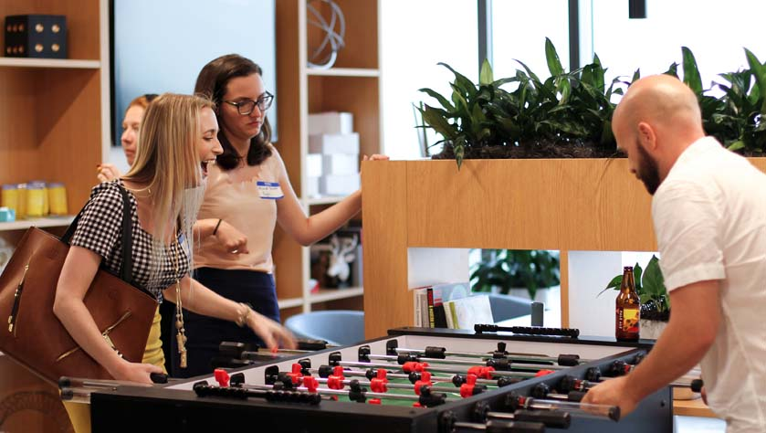 network at a coworking space