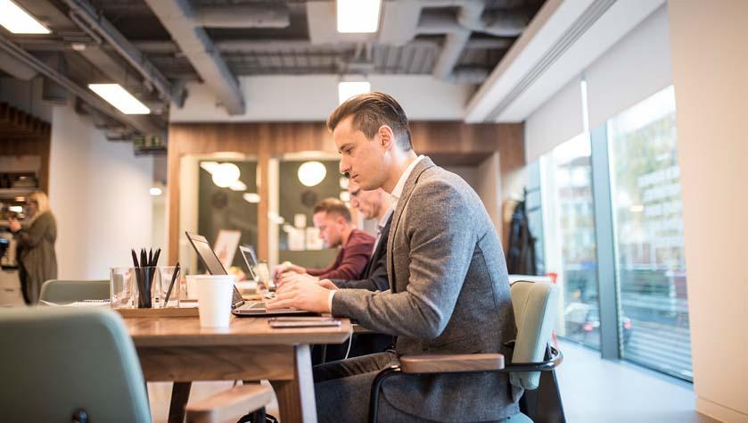 Increasing website traffic in an office