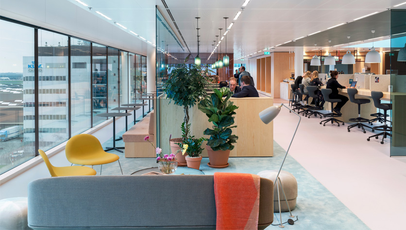 green office at spaces schiphol airport