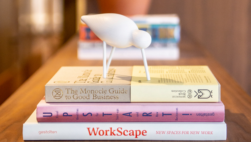 gestalten books like upstart monocle and workspace on spaces bookcase