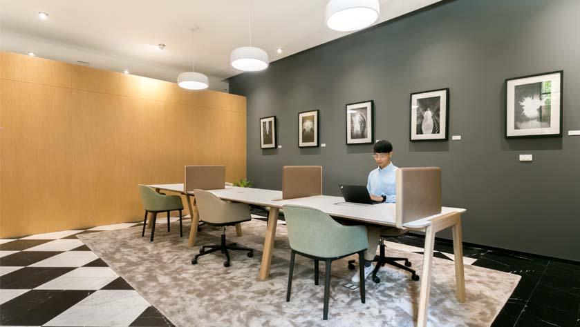 Designer coworking space in Shanghai