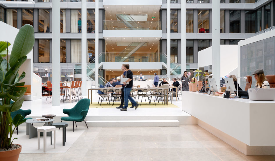 Atrium at an Amsterdam coworking office